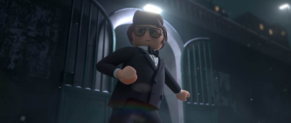 Daniel Radcliffe plays Rex Dasher in Playmobil: The Movie (Credit: Studio Canal)