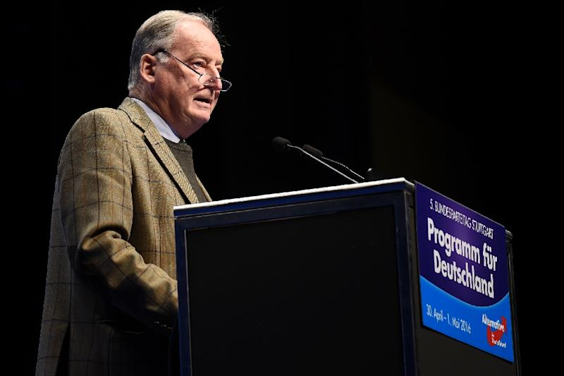 """Alexander Gauland, deputy chairman of the anti-immigration Alternative for Germany (AfD) party says Germany is pursuing a policy of """"human flooding"""" when it comes to migrants"""