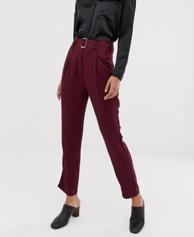 Y.A.S belted trouser