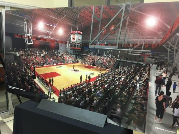 This rendering, first shown to the public in 2019, shows what the team envisioned for the Windsor Arena if the Windsor Express was able to acquire it.