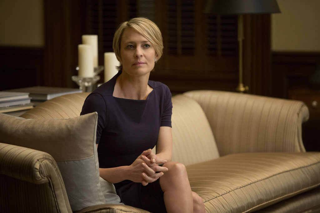 """Robin Wright in the """"House of Cards"""" Season 1 episode, """"Chapter 1."""""""