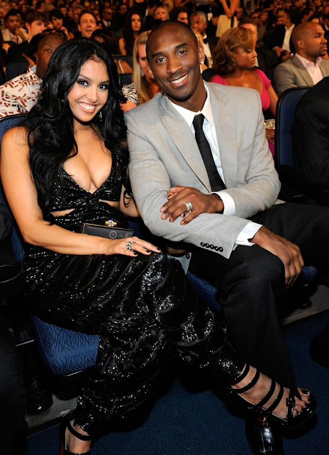 LOS ANGELES, CA - JULY 15: NBA player Kobe Bryant and wife Vanessa during the 2009 ESPY awards held at Nokia Theatre LA Live on July 15, 2009 in Los Angeles, California. The 17th annual ESPYs will air on Sunday, July 19 at 9PM ET on ESPN. According to reports, Vanessa Bryant has filed for divorce from her husband of over 10 years, Kobe Bryant on December 16, 2011. (Photo by Kevork Djansezian/Getty Images for ESPY)