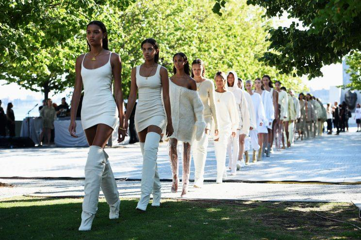 The fashion industry could take a lesson from Kanye West after 97% of his Yeezy Season 4 show turned out to be black models [Photo: Getty]