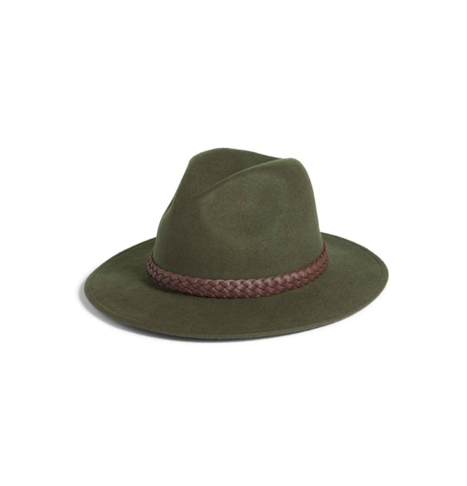 <p>Is it just us, or is there something about the fall that makes you want to break out a wide-brimmed hat? If the craving strikes, reach for the <span>Treasure &amp; Bond Braided Band Wool Fedora</span> ($39), a stylish option that's under $40. We know, <em>wow</em>.</p>