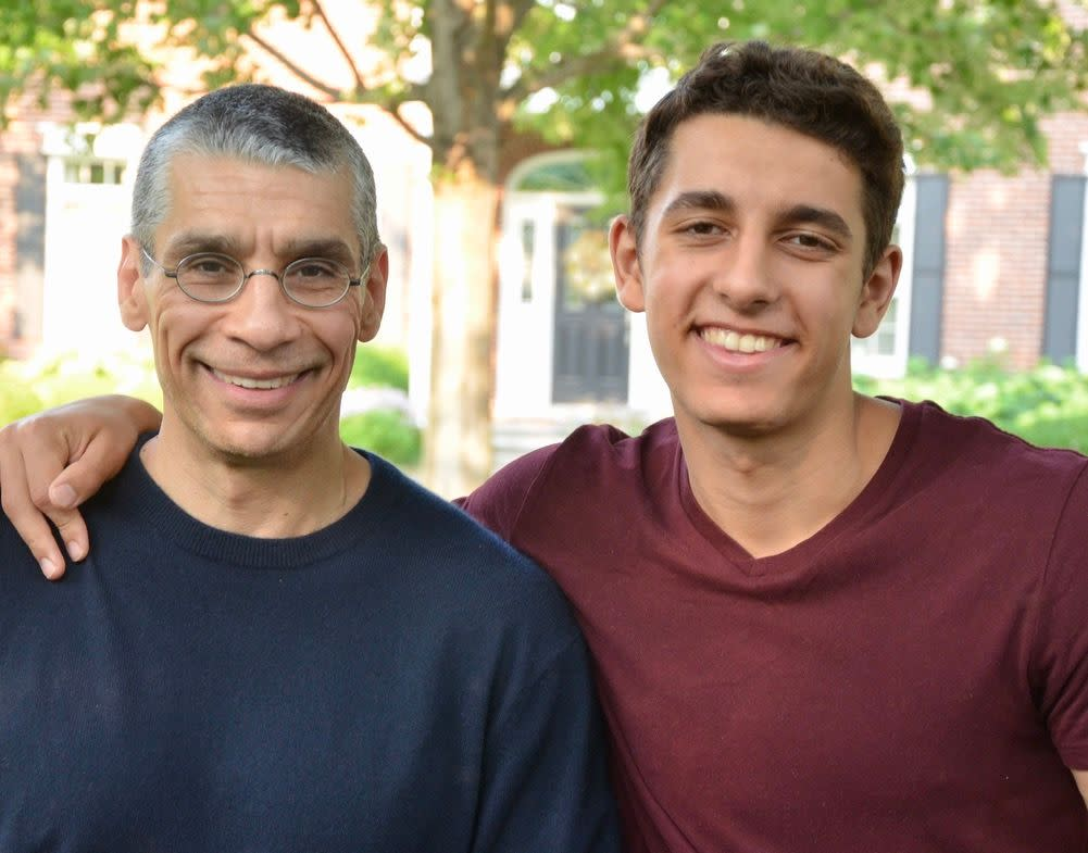 Aidan ElDifrawi, who co-hosts the Hold Me Back podcast with his dad, Ash, says he tells peers to make sure they're sure a protest goes along with their belief system before they look into attending. (Photo: Aidan ElDifrawi)
