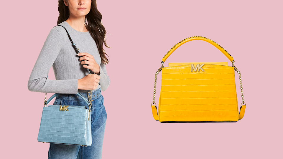 Make a statement this fall with a bright and bold bag from Michael Kors.