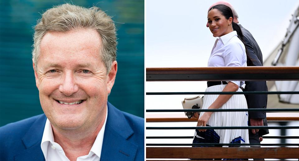 Piers Morgan has accused the Duchess of Sussex of 'double standards' by guest editing British Vogue. [Photos: Getty/PA]