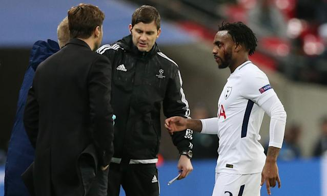 Mauricio Pochettino, hands in pockets, looks on as Danny Rose comes off against Apoel Nicosia with a cut head