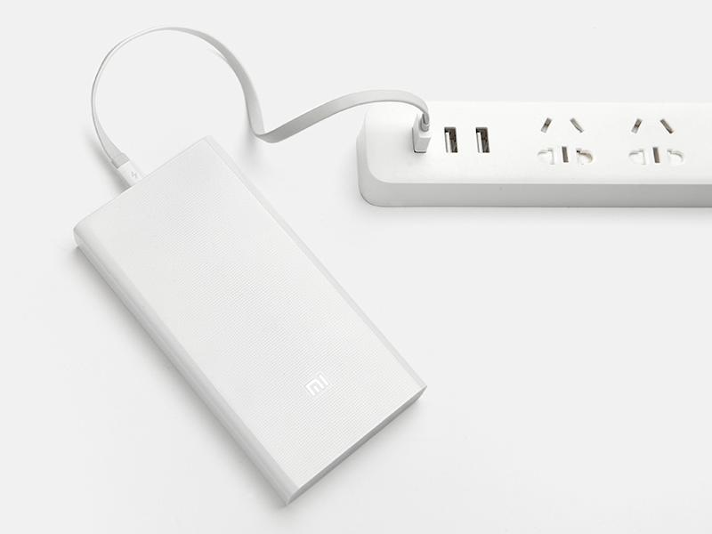 To ensure it doesn't take too long to recharge its own cells, high-capacity power banks tend to sport a faster input port. The new Xiaomi 20,000mAh Mi Power Bank's input port supports 5V/2A, 9V/2A, and 12V/1.5A. (Image source: Xiaomi.)