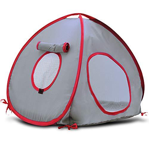 Living World Tent for Pets, Grey/Red (Amazon / Amazon)