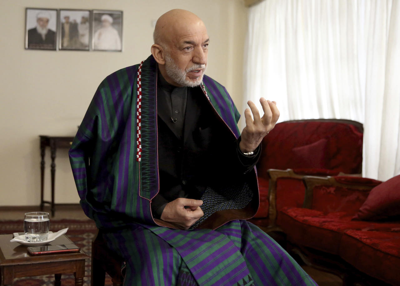 Afghan ex-leader welcomes peace deal; criticizes US legacy