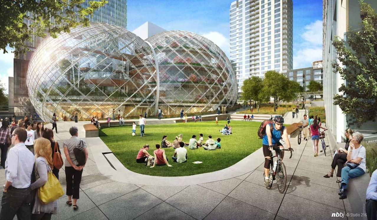 "Amazon's proposed ""bio-dome"" Seattle headquarters"