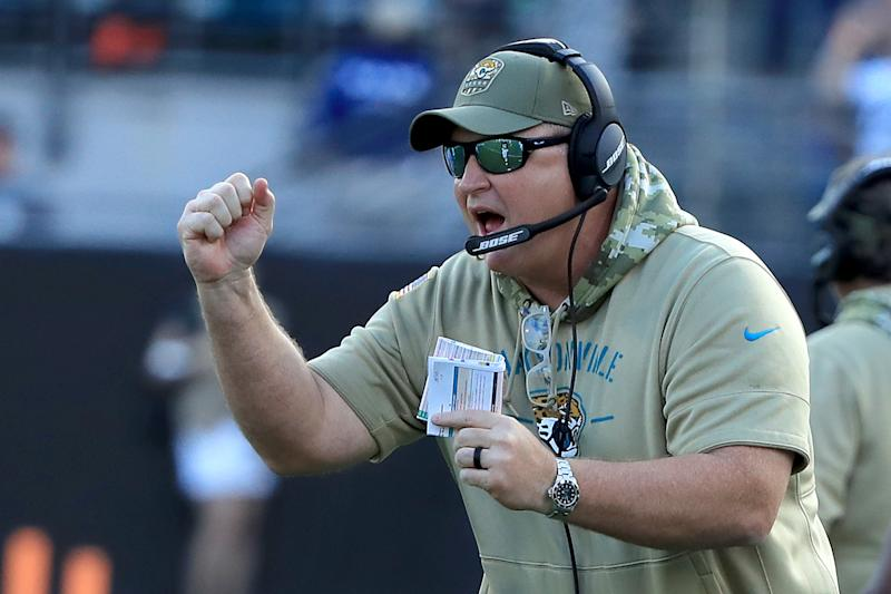 Doug Marrone will get another chance to coach the Jaguars to a winning season in 2020. (Photo by Sam Greenwood/Getty Images)