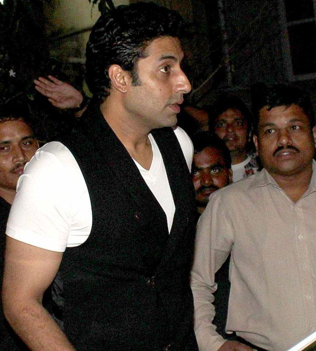 Abhishek Bachchan arrives for the bash