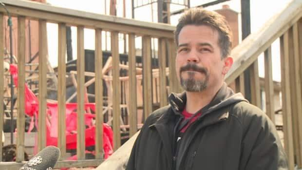 Jason Morrison says the last few days have been difficult as he and his family go through their belongings in the home and try to salvage items.  (Jacob Barker/CBC - image credit)