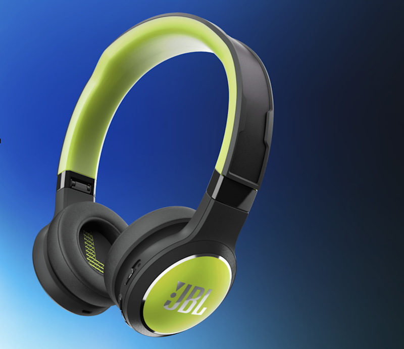 The headphones draw power from either solar or electric light (JBL)