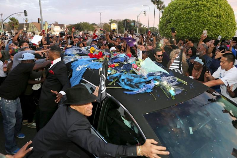 Nipsey Hussle procession | Tasia Wells/Getty Images