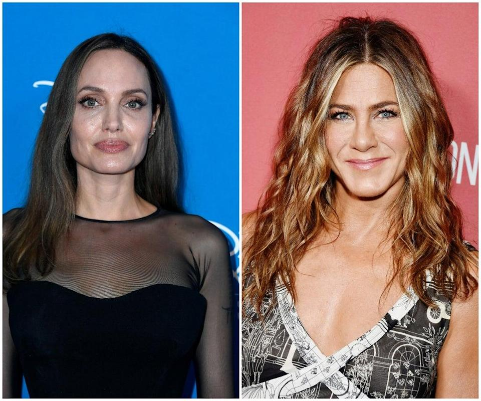 Angelina Jolie and Jennifer Aniston (Getty Images)