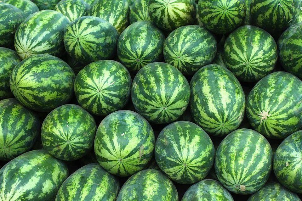 <p>If they're still whole, melons should be left out at room temperature so they can ripen. They should only be refrigerated once they've been sliced.</p>