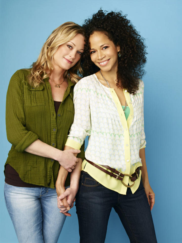 "ABC Family's ""The Fosters"" stars Teri Polo as Stef and Sherri Saum as Lena."
