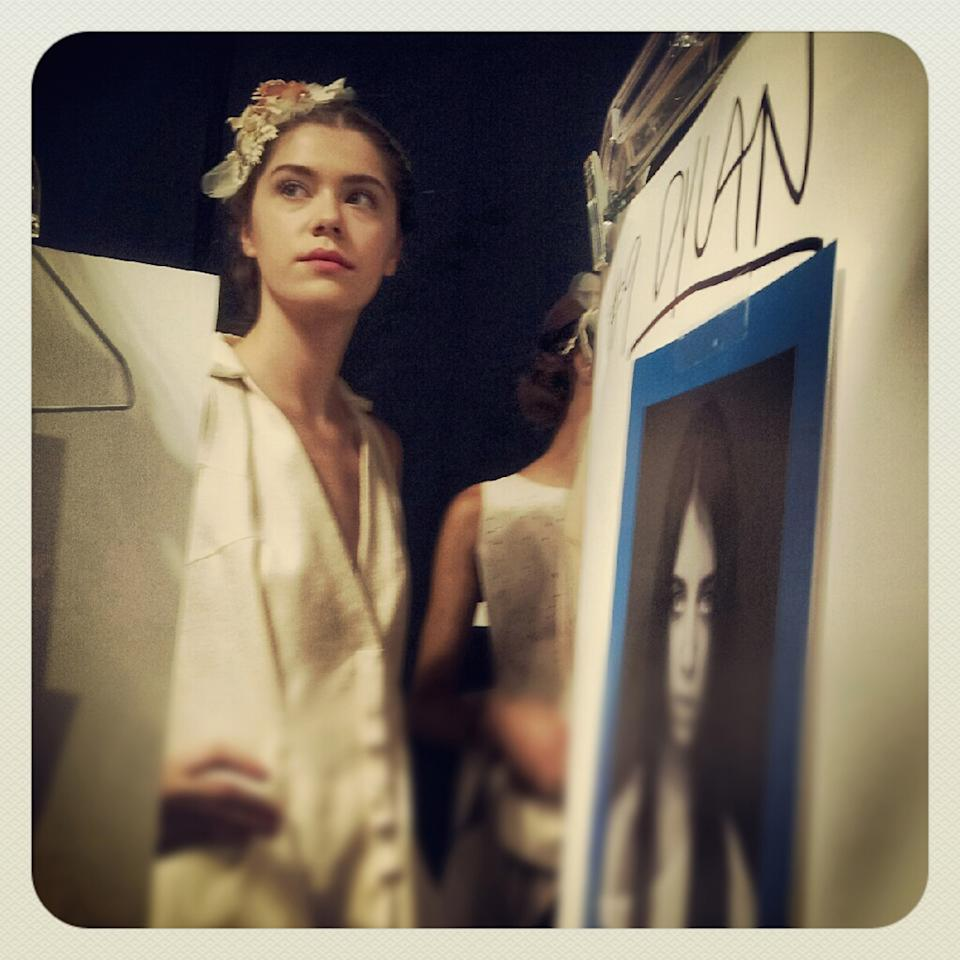 NEW YORK, NY - SEPTEMBER 7: (EDITORS NOTE: Image was processed using an Instagram filter) A model backstage during the Concept Korea spring 2013 fashion show during Mercedes-Benz Fashion Week at The Stage at Lincoln Center on September 7, 2012 in New York, NY. (Photo by Jason Kempin/Getty Images)