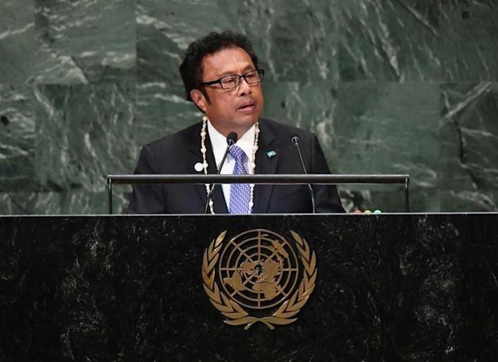 """In the letter, Palau President Tommy Remengesau said """"destabilising actors have already stepped forward to take advantage"""" of the virus-related economic crises facing small island nations"""
