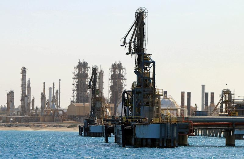 A general view shows an oil facility in the northern Libyan town of al-Buraqah (AFP Photo/Abdullah DOMA)
