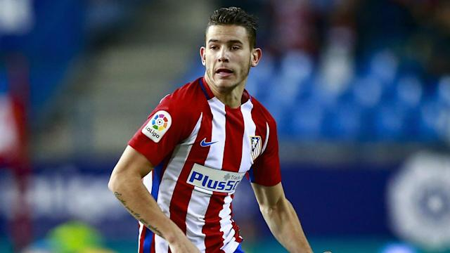Atletico Madrid defender Lucas Hernandez faces a spell on the sidelines after picking up a hamstring injury.