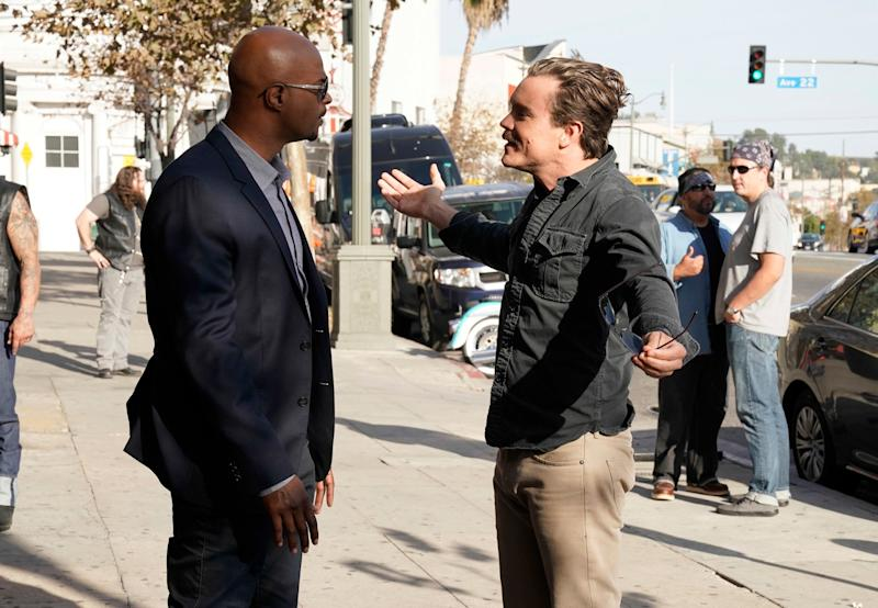Damon Wayans and Clayne Crawford were not off-screen buddies in their buddy-cop series. (FOX via Getty Images)