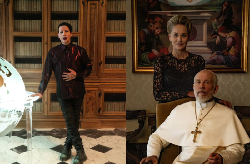 Marilyn Manson, Sharon Stone to guest star on HBO's The New Pope