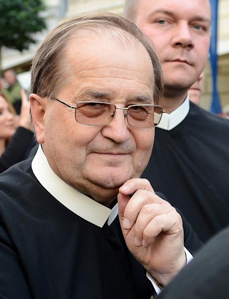"Influential and controversial priest Tadeusz Rydzyk (pictured September 2012) denounced what he called a ""smear campaign"" inspired by ""hatred"" of the Church (AFP Photo/JANEK SKARZYNSKI)"