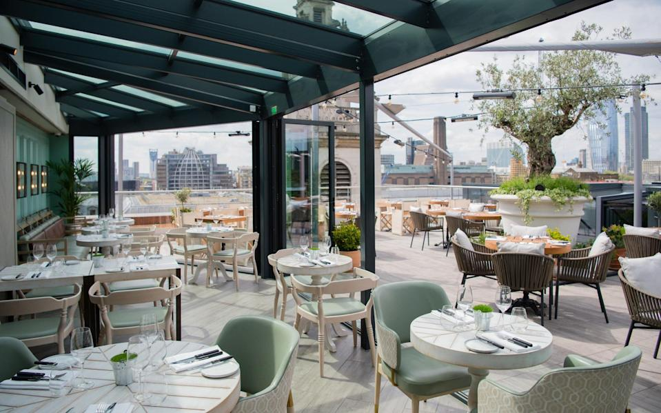 Head to Vintry & Mercer's roof terrace