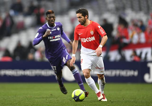 Soccer Football - Ligue 1 - Toulouse vs AS Monaco - Stadium Municipal de Toulouse, Toulouse, France - February 24, 2018 Monaco's Joao Moutinho in action REUTERS/Fred Lancelot
