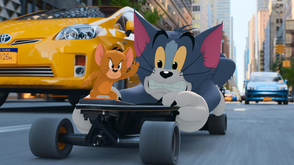 Tim Story says the New York City chase in 'Tom & Jerry' was only limited by his team's creativity. (Credit: Warner Bros)