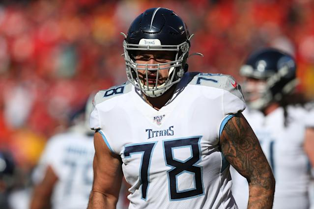 Offensive tackle Jack Conklin (78) agreed to terms with the Browns. (Photo by Scott Winters/Icon Sportswire via Getty Images)