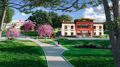 The Dalai Lama Library and Learning Center will be built on the Grounds of Namgyal Monastery in Ithaca, New York.