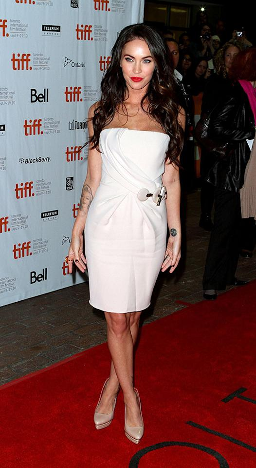 "Megan Fox arrives to the ""Passion Play"" Premiere held at Ryerson Theatre during the 35th Toronto International Film Festival on September 10, 2010 in Toronto, Canada."