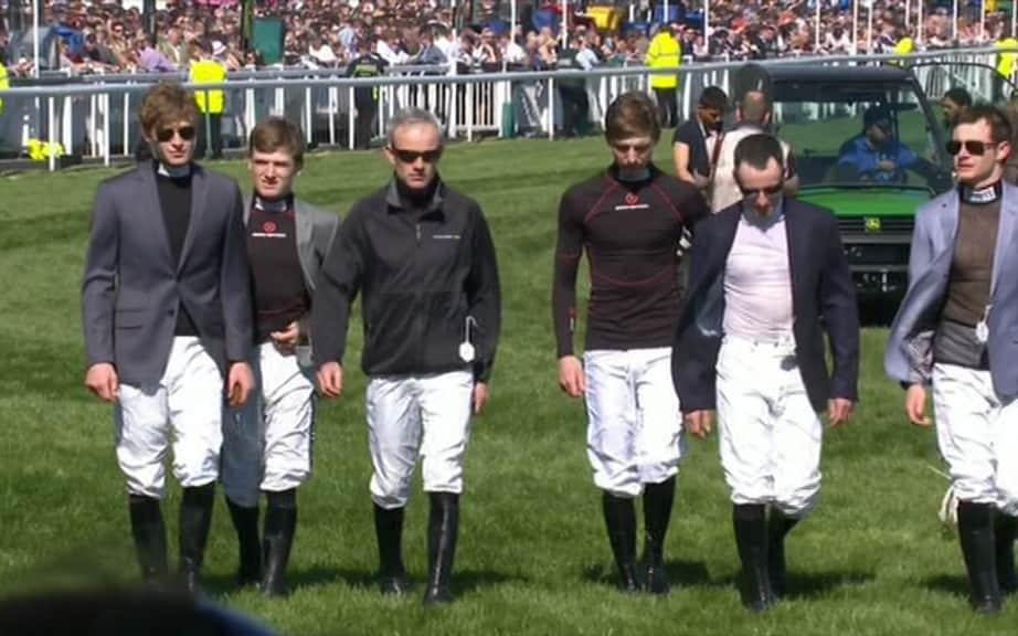 Ruby Walsh and other jockeys - Credit: ITV