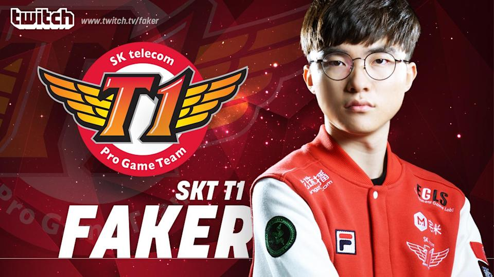 Faker breaks a record during his first stream on Twitch. (Twitch)