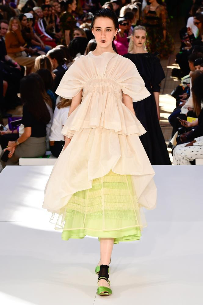 A tiered dress from Molly Goddard's spring/summer 2020 collection