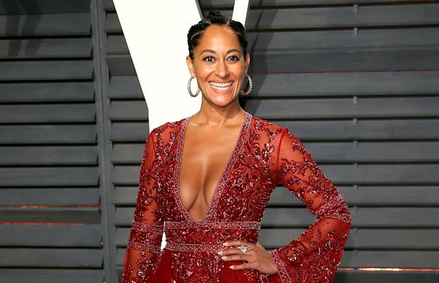 Actress Tracee Ellis Ross attends the Vanity Fair Oscar Party, Feb. 26, 2017, in Beverly Hills, Calif. (Photo: JB Lacroix/WireImage)