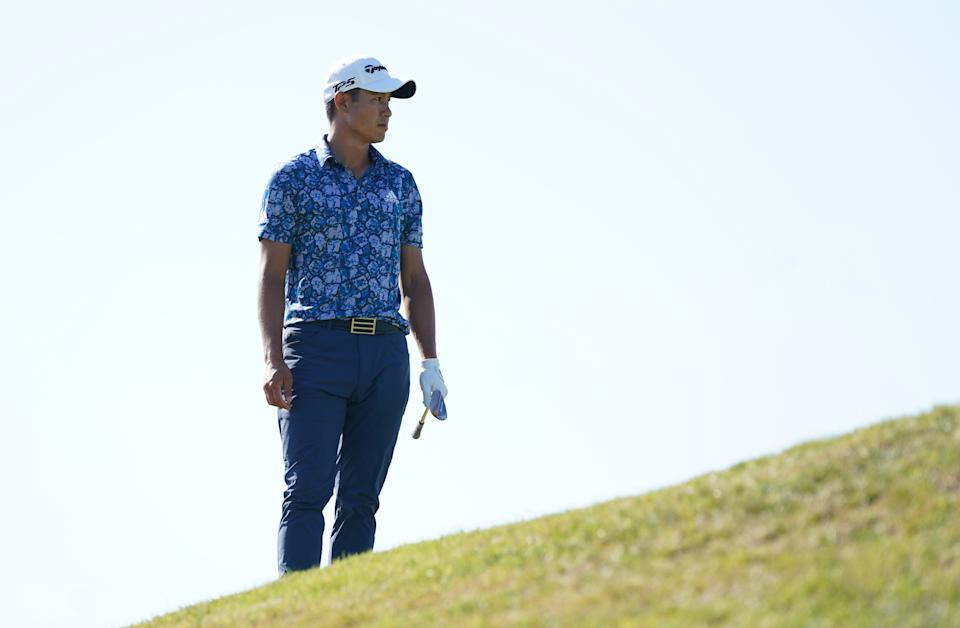 Collin Morikawa stood alone at the end of the Open Championship. (Photo by Gareth Fuller/PA Images via Getty Images)
