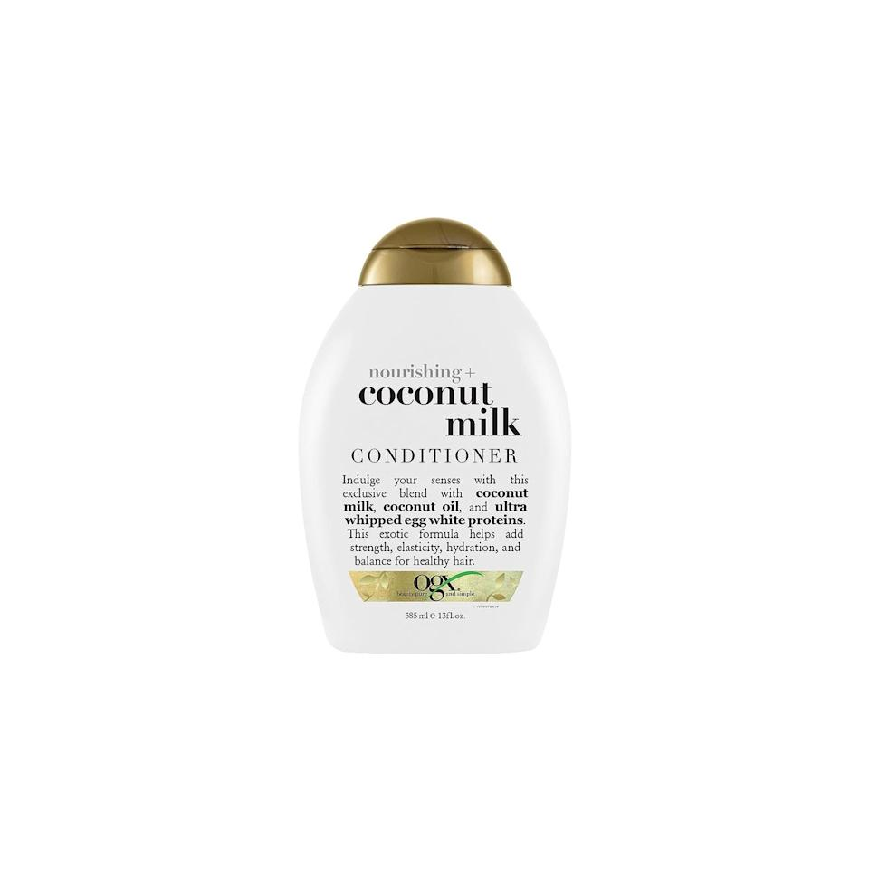 "<p>Yes, conditioner is still important here. Like your shampoo, you should dilute your conditioner with water and apply it to the braids and scalp using a spray bottle or an applicator bottle. Some of our favorite products for this step include <a href=""https://www.popsugar.com/buy/OGX-Coconut-Milk-Conditioner-544356?p_name=OGX%20Coconut%20Milk%20Conditioner&retailer=amazon.com&pid=544356&price=6&evar1=bella%3Aus&evar9=47157991&evar98=https%3A%2F%2Fwww.popsugar.com%2Fphoto-gallery%2F47157991%2Fimage%2F47160480%2FDont-Skip-Your-Conditioner&prop13=api&pdata=1"" rel=""nofollow"" data-shoppable-link=""1"" target=""_blank"" class=""ga-track"" data-ga-category=""Related"" data-ga-label=""https://www.amazon.com/OGX-Conditioner-Nourishing-Coconut-Milk/dp/B000TG850M"" data-ga-action=""In-Line Links"">OGX Coconut Milk Conditioner</a> ($6), <a href=""https://www.popsugar.com/buy/SheaMoisture-100-Virgin-Coconut-Oil-Daily-Hydration-Conditioner-544357?p_name=SheaMoisture%20100%25%20Virgin%20Coconut%20Oil%20Daily%20Hydration%20Conditioner&retailer=target.com&pid=544357&price=9&evar1=bella%3Aus&evar9=47157991&evar98=https%3A%2F%2Fwww.popsugar.com%2Fphoto-gallery%2F47157991%2Fimage%2F47160480%2FDont-Skip-Your-Conditioner&prop13=api&pdata=1"" rel=""nofollow"" data-shoppable-link=""1"" target=""_blank"" class=""ga-track"" data-ga-category=""Related"" data-ga-label=""https://www.target.com/p/sheamoisture-100-virgin-coconut-oil-daily-hydration-conditioner-10-3-fl-oz/-/A-52430858"" data-ga-action=""In-Line Links"">SheaMoisture 100% Virgin Coconut Oil Daily Hydration Conditioner</a> ($9), and <a href=""https://www.popsugar.com/buy/Carol-Daughter-Sacred-Tiare-Fortifying-Conditioner-544724?p_name=Carol%27s%20Daughter%20Sacred%20Tiare%20Fortifying%20Conditioner&retailer=walmart.com&pid=544724&price=11&evar1=bella%3Aus&evar9=47157991&evar98=https%3A%2F%2Fwww.popsugar.com%2Fphoto-gallery%2F47157991%2Fimage%2F47160480%2FDont-Skip-Your-Conditioner&prop13=api&pdata=1"" rel=""nofollow"" data-shoppable-link=""1"" target=""_blank"" class=""ga-track"" data-ga-category=""Related"" data-ga-label=""https://www.walmart.com/ip/Carol-s-Daughter-Sacred-Tiare-Fortifying-Conditioner-12-oz/49312184"" data-ga-action=""In-Line Links"">Carol's Daughter Sacred Tiare Fortifying Conditioner</a> ($11).</p>"