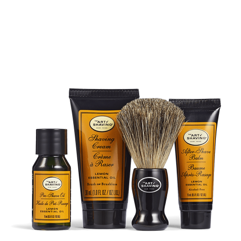 """<p><strong>The Art of Shaving</strong></p><p>theartofshaving.com</p><p><strong>$30.00</strong></p><p><a href=""""https://go.redirectingat.com?id=74968X1596630&url=https%3A%2F%2Fwww.theartofshaving.com%2Fkits%2526gifts%2Fshaving-kits%2Fstarter-kit-lemon%2F00670535980315.html&sref=https%3A%2F%2Fwww.seventeen.com%2Flife%2Ffriends-family%2Fg1088%2Fholiday-gifts-for-dad%2F"""" rel=""""nofollow noopener"""" target=""""_blank"""" data-ylk=""""slk:Shop Now"""" class=""""link rapid-noclick-resp"""">Shop Now</a></p><p>Help keep his beard situation under control with this lemon-scented four-piece grooming set.</p>"""