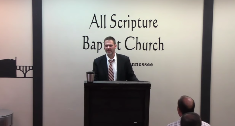 Grayson Fritts and his church, All Scripture Baptist Church, in Knoxville, Tenn. were barred from holding a meeting in a local Cracker Barrel due to his recent anti-LGBTQ sermons. (Photo: YouTube)