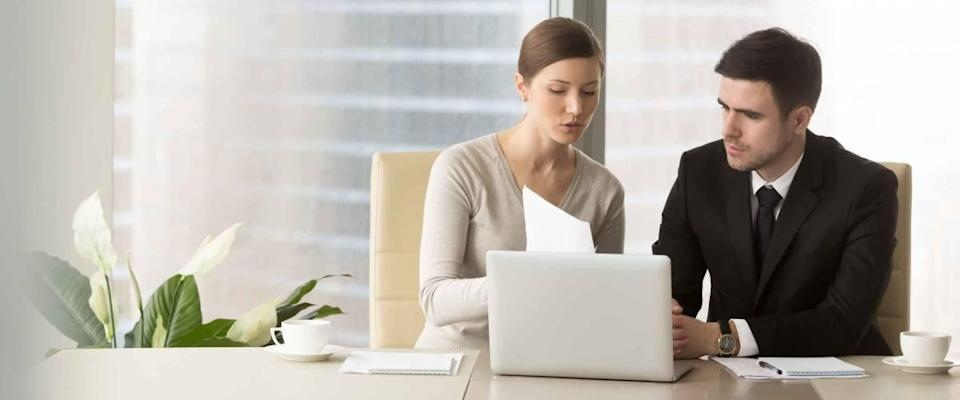 Meeting between financial adviser and client