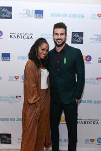 Rachel Lindsay Abasolo and Bryan Abasolo at Fashion Gives Back 2019 in support of Nicklaus Children's Hospital in Miami, Florida.