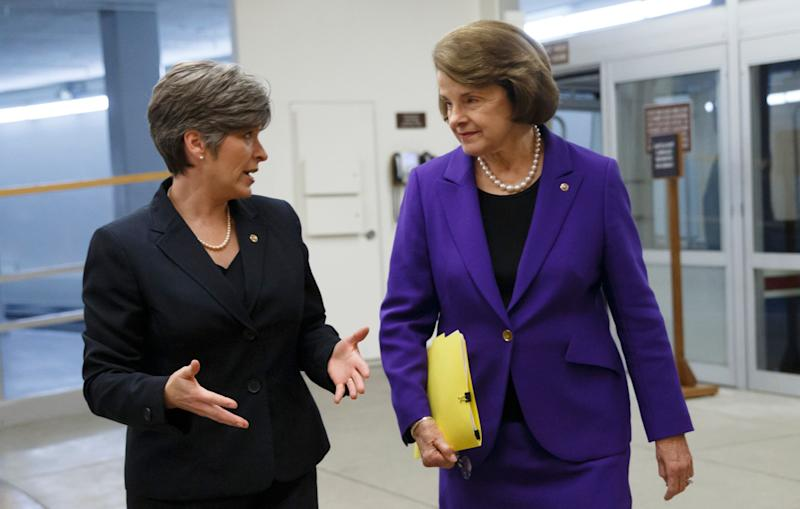 Sens. Joni Ernst (R-Iowa) and Dianne Feinstein (D-Calif.) were trying to find a bipartisan way forward on reauthorizing the Violence Against Women Act. But eight months later, that effort is in the toilet. (Photo: ASSOCIATED PRESS)
