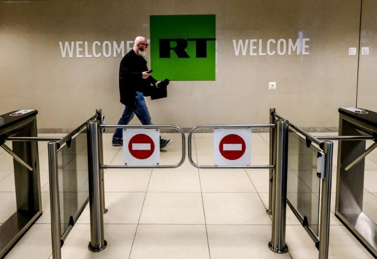 RT -- formerly known as Russia Today -- operates broadcasters and websites in multiple languages (AFP/Yuri KADOBNOV)
