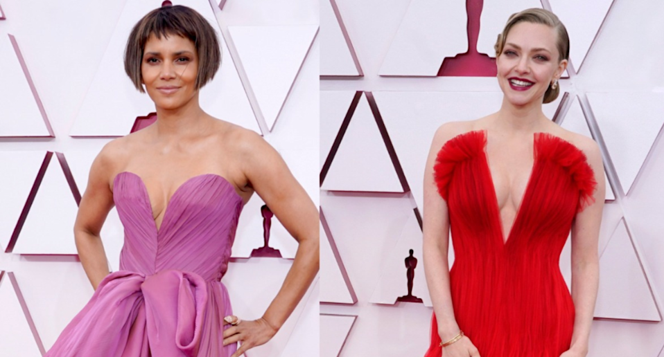 Halle Berry and Amanda Seyfried. Images via Getty Images.